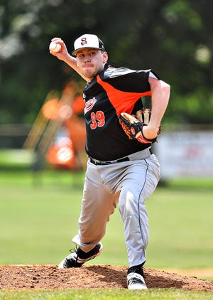 Stoverstown's Joe Yourgal, seen here in a file photo, pitched a complete-game six-hitter on Tuesday in a 3-1 win over Glen Rock.
