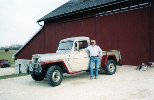Bob Kinsley poses with a truck.