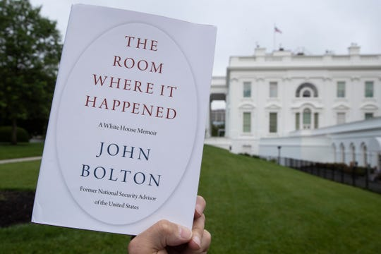 "A copy of ""The Room Where It Happened,"" by former national security adviser John Bolton, is photographed at the White House, Thursday in Washington."