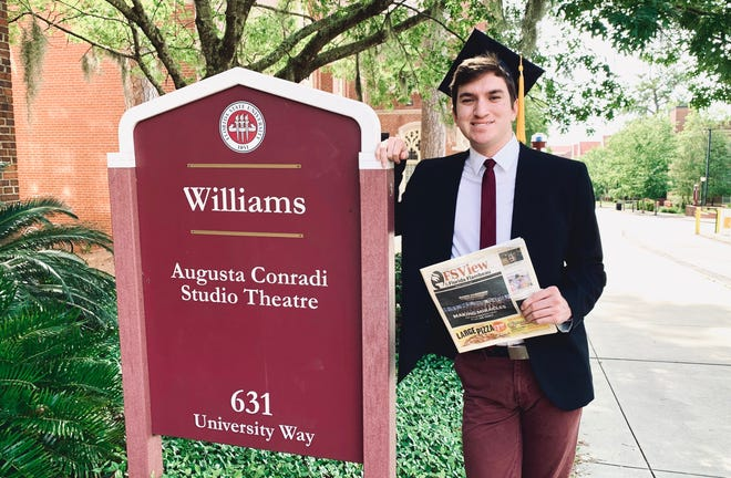 Staff Writer Noah Griego graduated virtually on May 2, 2020 from Florida State University with his bachelor's degree in English, with it he hopes to impact the world with his words.
