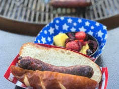If you're socializing on the Fourth, have one person set up the food in disposable, individual grab-and-go containers, rather than everyone helping themselves and touching multiple items. That's what chefs and event planners recommend during the coronavirus era.