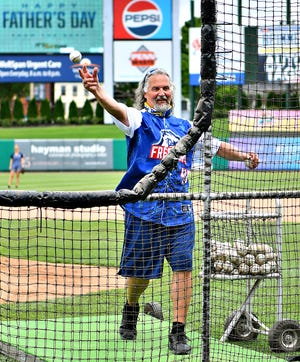 York Revolution manager Mark Mason is seen here in a file photo. His team is tied for first place in the Atlantic League Northern Division with six games remaining in the season.