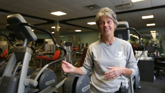 Dorothea Hughes, executive director of the Skaneateles YMCA and Community Center, explains on Monday, June 15, 2020, how the Y's reopening process will go in phases to ensure employee and patron safety.