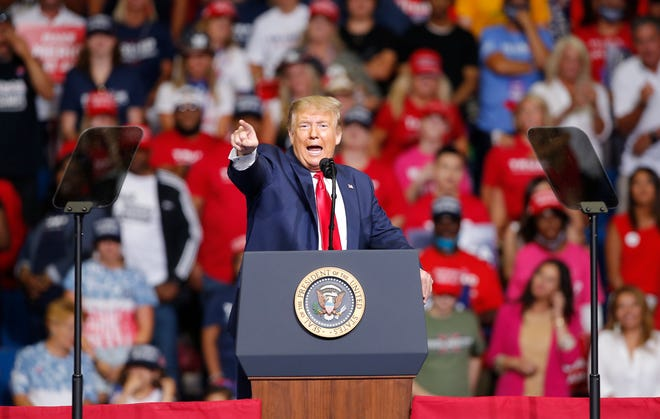 President Donald Trump speaks during a rally at the BOK Center in Tulsa, Okla., Saturday, June 20, 2020.