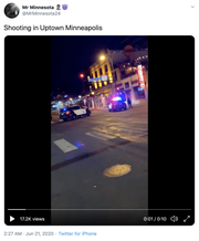 Footage shared online contains audible screams and the sound of gunfire.