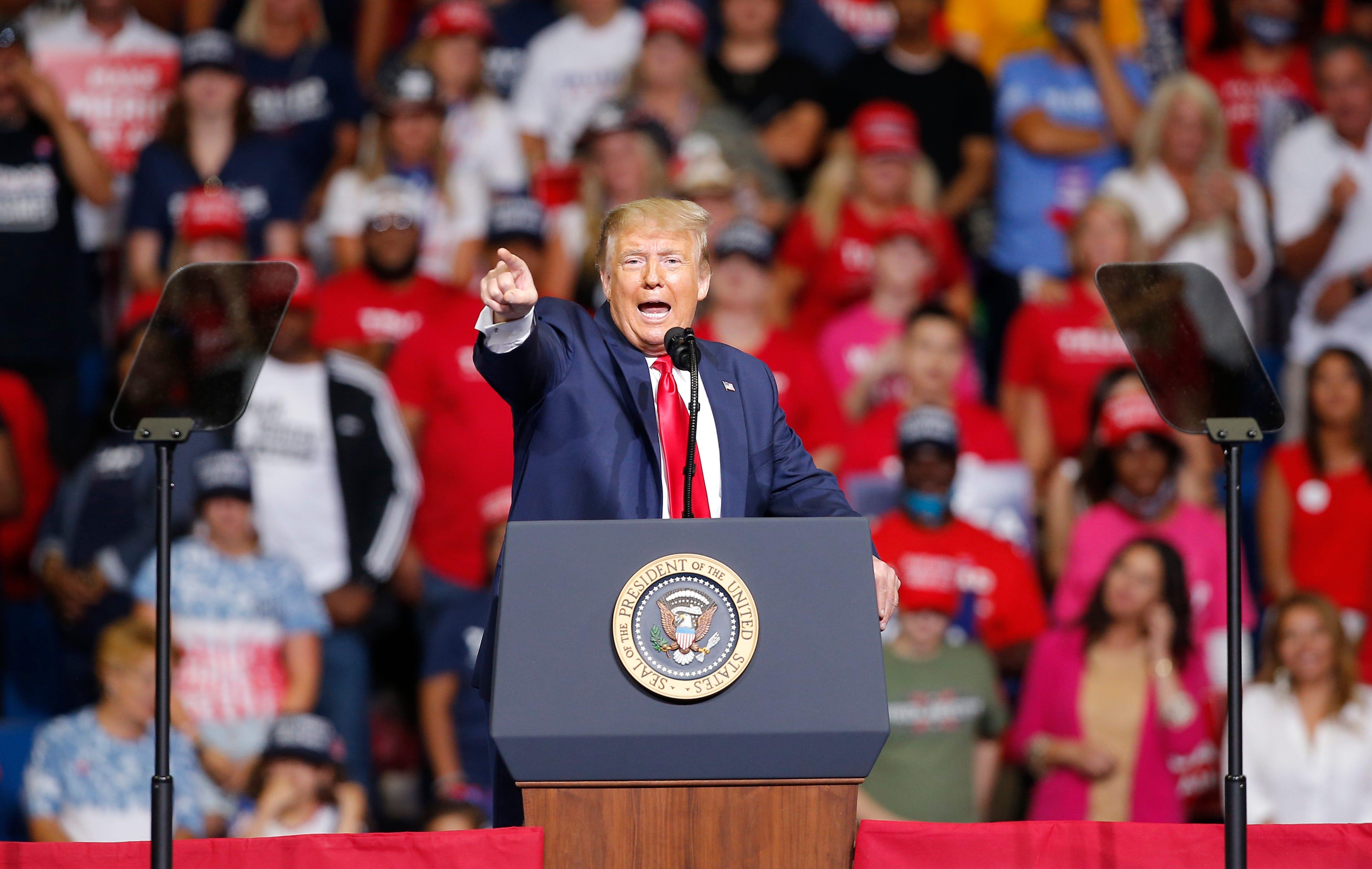 Trump Tulsa speech ends, president said he wanted to  slow the testing down  on coronavirus