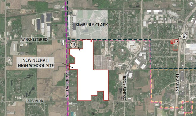 Land for the new Neenah High School will receive services from Fox Crossing. The village annexed the property from the Town of Neenah.