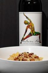 Carbonara pairs with Auburn Road wine at Valente's Italian Specialties in Haddonfield.