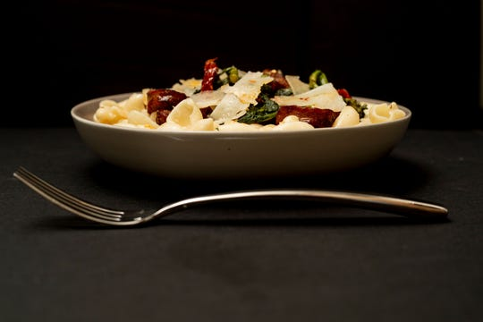 Salsiccia is a pasta dish on the dinner menu at Valente's in Haddonfield.