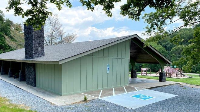 The renovated pavilion at Billy Dunlop Park now has modern, fully accessible restrooms.