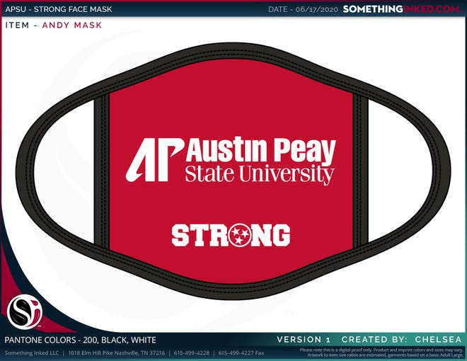A rendering of Austin Peay's TN Strong Mask Movement face coverings