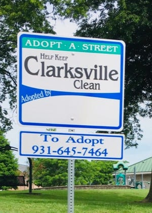 A new sign has been designed for the Clarksville Street Department's Adopt-A-Street Program.