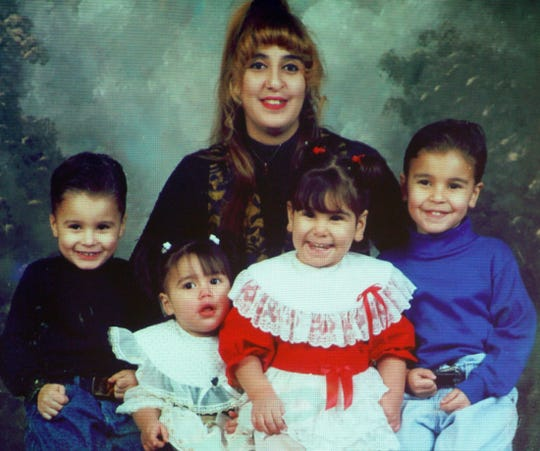 Melissa Padilla with her four children.