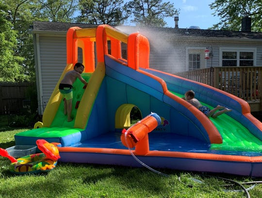 Christa Tisch of South Tom's River bought a backyard water slide for her family.