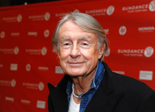 """In this Jan. 29, 2010 file photo, director Joel Schumacher attends the premiere of """"Twelve"""" during the 2010 Sundance Film Festival in Park City, Utah. A representative for Schumacher said the filmmaker died Monday, June 22, 2020, in New York after a year-long battle with cancer. He was 80."""
