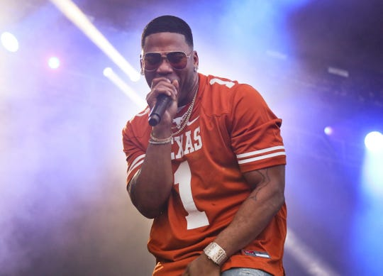 Nelly performing in 2018 at the Austin City Limits Music Festival in Austin, Texas.  Nelly will perform in Maryland Heights, Mo., near St. Louis, as part of Live Nation's Live from the Drive-In concert series.