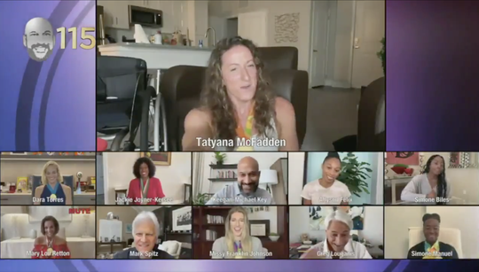 Actor-comedian Keegan-Michael Key hosted an Olympic reunion via Zoom, checking in with enough athletes to represent 150 medals, including a Michael Phelps impersonator.