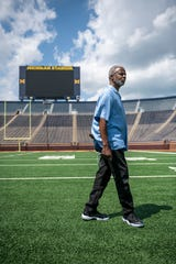 Greg Harden, Michigan associate athletic director for athletic counseling, spent 34 years at Michigan.