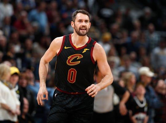 Cleveland Cavaliers forward Kevin Love received the Arthur Ashe Award for Courage at the ESPY Awards on Sunday, June 21, 2020, for sparking a national conversation about mental health. (AP Photo/David Zalubowski, File)