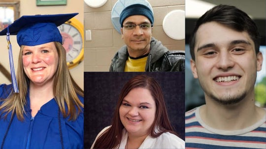 Clockwise from left are Terra State Community College Student Award winners April Nickloy, Shehbaz Khan, J.J. Dull and Dana Englehart.