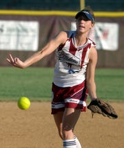 Henderson County's Stacy Whitmer pitches during the 2006 district championship game against Union County at North Field.