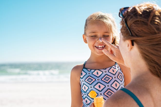 Sun protective fabrics use ultraviolet protection factor (UVP) and are becoming more common as a solution for protecting your children's skin against the sun.