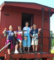 Children enjoy a visit to Pinecrest Historical Village in Manitowoc.