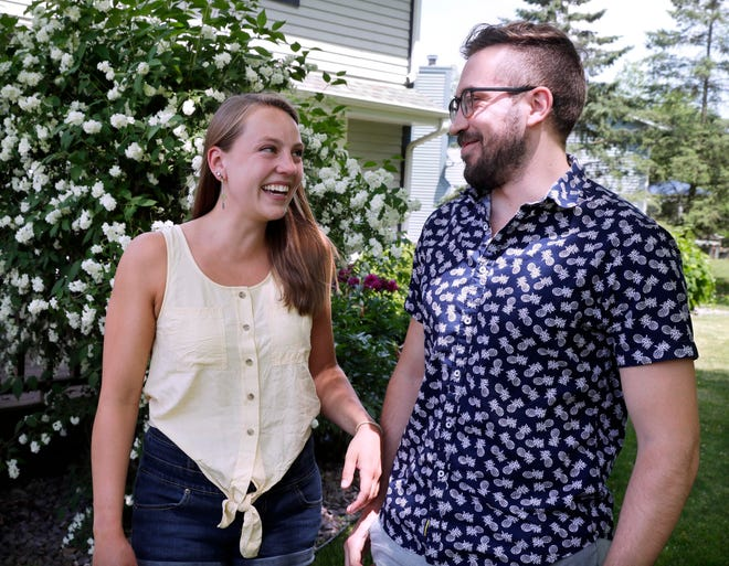Zoe Brigham and Nick Wohkittel began dating online during the pandemic.