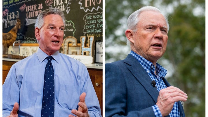 Former Auburn head football coach Tommy Tuberville (left) and former U.S. Sen. Jeff Sessions (right) are seeking the GOP nomination for U.S. Senate.