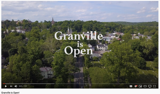 "In the wake of pandemic business closures, some temporary, some permanent, and a major bridge project, new video declares ""Granville is Open."""