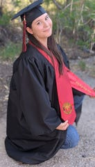 Allyssa Wright poses for her graduation photo. Wright is planning to major in political science and government at New Mexico State University.