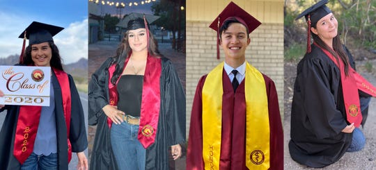 From left: Alejandra Soliz, Brianna Campos, Micah Wong and Allyssa Wright celebrate their high school graduations before heading off into the world to pursue their educations and careers.