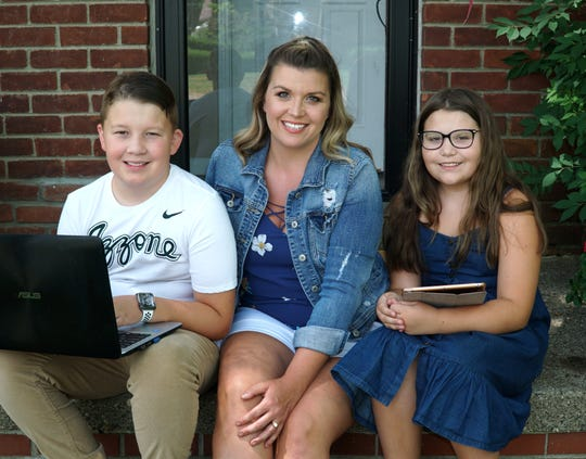 Amy Beckner and her kids Abram, 13, and Claire, 10, now have most of half a school year of remote learning in the Livonia School District under their belts.