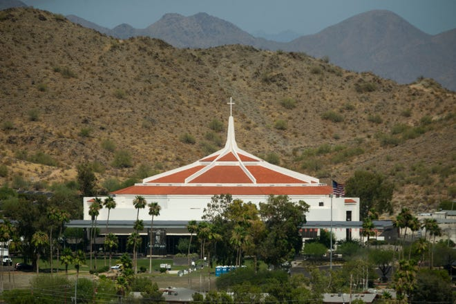 Dream City Church in Phoenix on June 22, 2020, the day before the Students for Trump event where President Donald Trump will speak at Dream City Church.