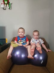 Amanda Cree's twin boys