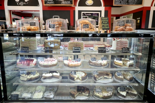 Cakes line the shelves at Gerry Frank's Konditorei in Salem, Oregon on Monday, June 22, 2020.