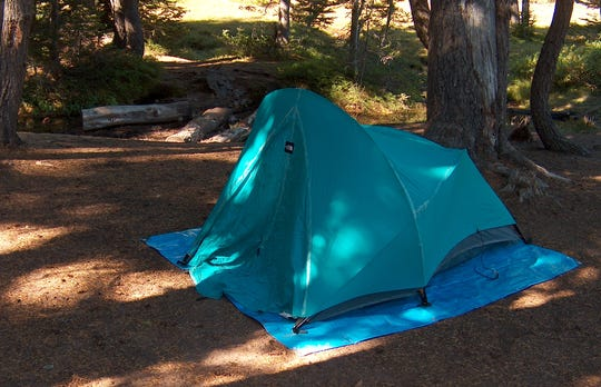 Henry's tried and true one-person tent.
