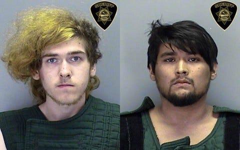 Left: John Legg, 19; Right: Frederic Rogers, 22