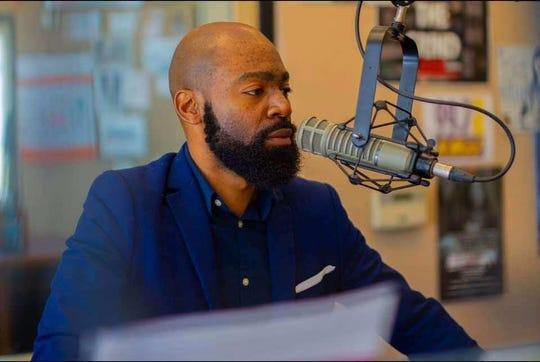 Airline assistant boys basketball coach Corey Williams is also on-air at KMJJ in Shreveport on Sunday mornings with a Gospel program.
