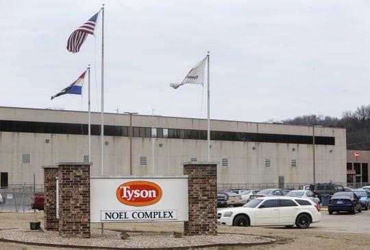 The Tyson Foods plant in Noel, Missouri.