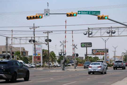 Robert E. Lee Road is shown Monday, June 22, 2020, in El Paso. Its name will be changed to Buffalo Soldier Road.