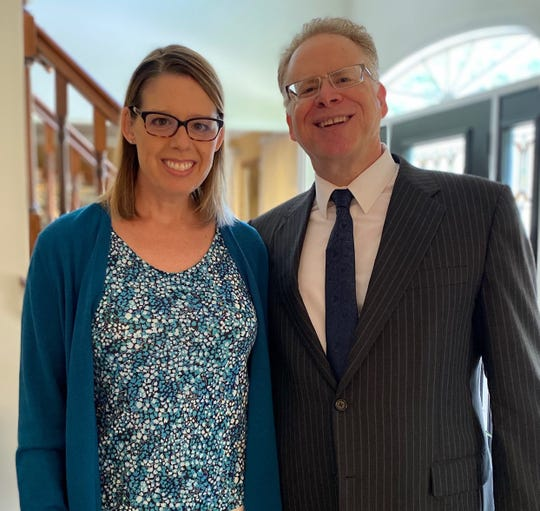 Vineland attorney Charles Coant with his wife Sonya Monday following his assuming role as president of Cumberland County Bar Association. Credit: Submitted.
