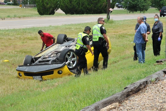 Wichita Falls police responded to a report of a one-vehicle pin-in accident Monday afternoon on the Kell Freeway access Road east of Fairway. Police report that around 1:30 p.m.,  a Camaro was attempting to pass a vehicle when it struck the curb and rolling to a stop in the grass, according to police spokesperson Sgt. Charlie Eipper. The driver had trouble exiting the vehicle and called for a pin-in response.