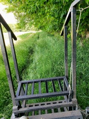 Snapped from the seat on the mower before cutting the lane.