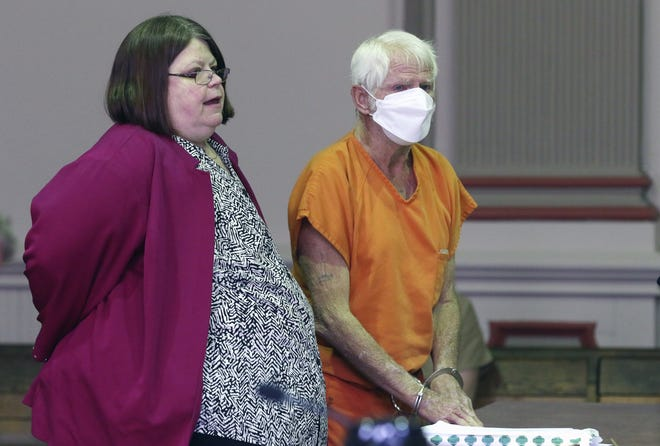 Ronald Cooper, of Texas pleaded guilty to one count of trafficking drugs, cocaine, and one count of fabrication of a vehicle with a hidden compartment in Muskingum County Common Pleas Court on Monday. Officials describe Cooper as a major drug dealer who operated across the country. At left is Cooper's attorney, Amy Otto.