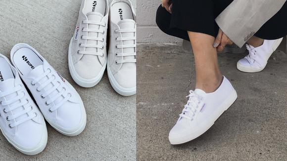 Celebrity Fashion: Superga sneakers.