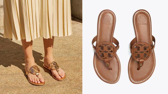 Celebrity Fashion: Tory Burch sandals.