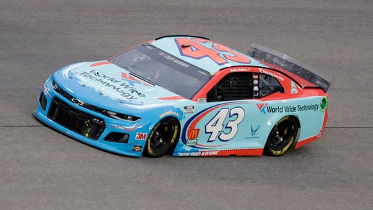 Bubba Wallace drives the No. 43 Chevrolet for Richard Petty Motorsports.