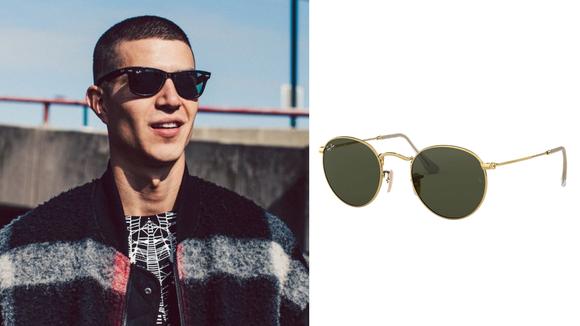 Celebrity Fashion: Ray-Ban sun shades.