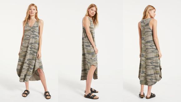 Z Supply Reverie Midi Dress in Camo
